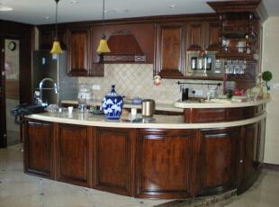 开放式西厨,240平,60万,混搭,复式,厨房,原木色,