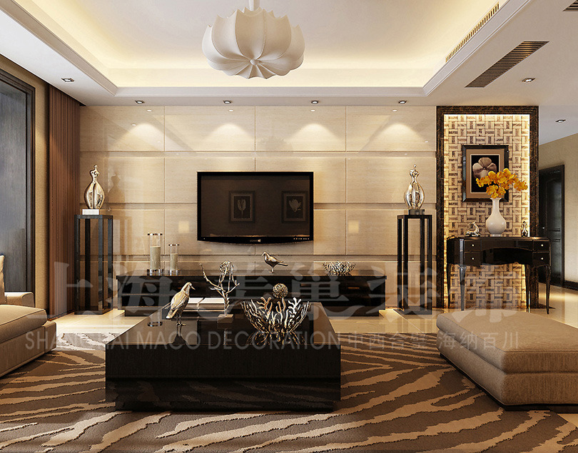 郑州天地湾装修案例详情,户型:127平三室两厅;风格:简欧风格.
