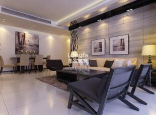 ,100平,3万,现代,两居,客厅,黑白,