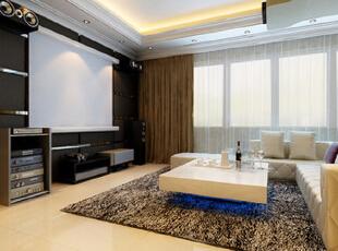 ,78平,7万,欧式,一居,客厅,原木色,黄白,