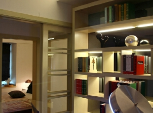 ,96平,15万,现代,三居,书房,原木色,白色,