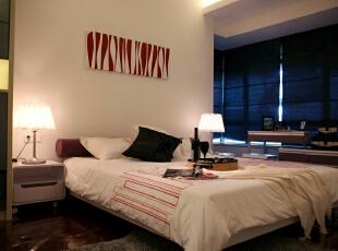 ,96平,15万,现代,三居,卧室,白色,