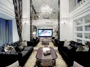 ,156平,30万,欧式,一居,客厅,黑白,
