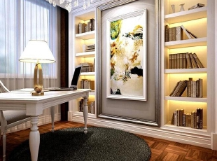 ,156平,30万,欧式,一居,书房,白色,