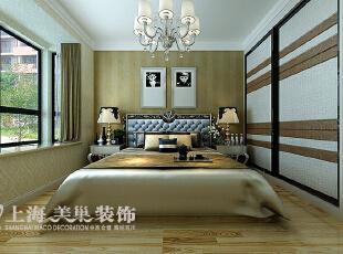 黄金海岸139平三室两厅简欧风格风格装修案例——卧室装修效果图,139平,11万,欧式,三居,卧室,黄白,