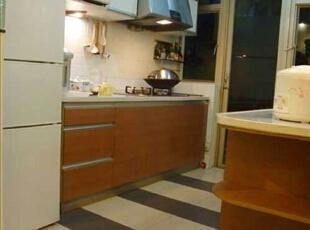 ,88平,10万,清新,两居,厨房,原木色,白色,