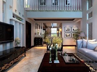 ,100平,10万,现代,复式,客厅,黑白,