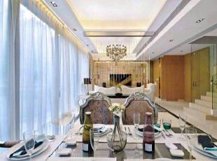 ,210平,30万,欧式,复式,白色,餐厅,