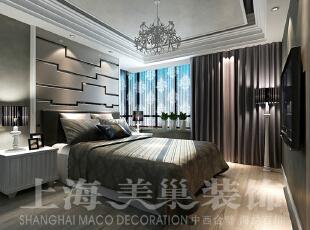 怡丰森林湖89平两室两厅现代简约装修案例效果图,卧室作为一个较为私密的空间,因此整体色调与公共区域的有所偏差,但却是业主的另一种情怀。,89平,787万,简约,两居,卧室,