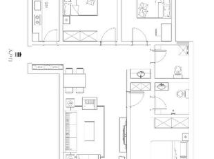 户型结构整体很合理,没有太大的改动。合理利用整个空间布局,127平,8万,现代,三居,
