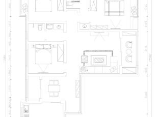 锦艺国际华都122平三室两厅简欧风格装修户型图,122平,9万,欧式,三居,
