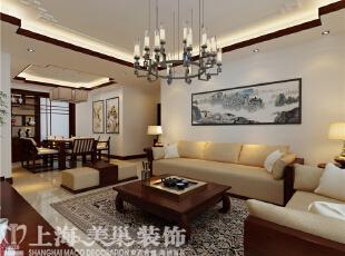 农大家属院装修案例效果图:客厅,140平,8万,中式,三居,客厅,原木色,白色,