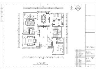 一层平面是主要的会客区域,设计师设计了较大的会客厅、起居室以及餐厅,满足主人的待客需求。同时将老人房设计在一楼区域,方便老人的生活起居。,500平,100万,清新,别墅,