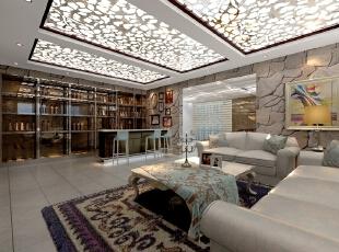 ,193平,50万,新古典,三居,客厅,白色,