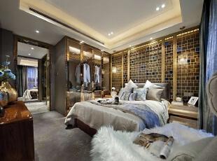 ,120平,20万,现代,三居,卧室,黄白,