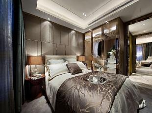 ,120平,20万,现代,三居,卧室,棕色,白色,