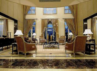 低调奢华,是一种生活态度,一种具有高贵品质的优越品位的生活方式,一种优质生活的表达,一种格调与品位的象征,同时也是一种风格的追求。,235平,235万,现代,别墅,客厅,黄色,