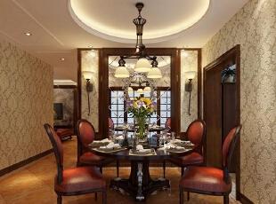 国龙绿城怡园140平方三室两厅欧式风格装修效果图 餐厅,140平,10万,欧式,三居,餐厅,原木色,黄白,