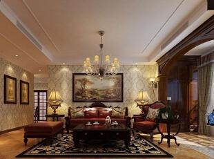 国龙绿城怡园140平方三室两厅欧式风格装修效果图 客厅,140平,10万,欧式,三居,客厅,原木色,白色,