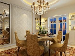 ,162.0平,110800.0万,欧式,四居,餐厅,黄白,