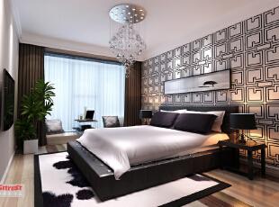 ,96平,9万,欧式,两居,卧室,黑白,
