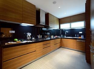 ,300平,60万,现代,一居,厨房,原木色,