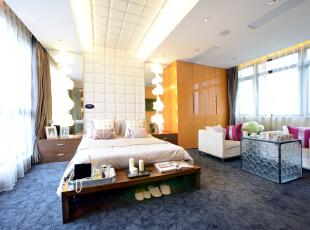 ,300平,60万,现代,一居,卧室,白色,橙色,