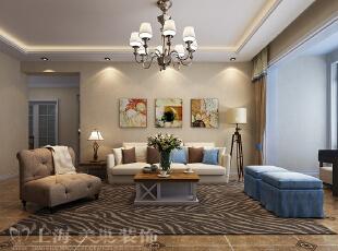怡丰森林湖105平三室两厅现代简约案例装修效果图——沙发背景墙,105平,14万,简约,三居,客厅,黄白,