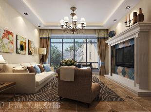 怡丰森林湖105平三室两厅现代简约案例装修效果图——客厅,105平,14万,简约,三居,客厅,黄白,