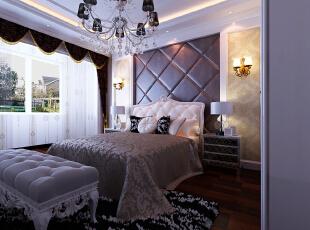,140平,16万,欧式,三居,卧室,棕色,白色,