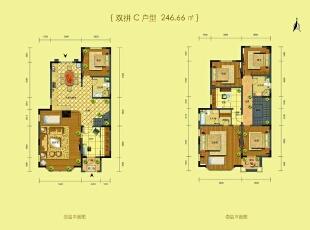 户型图,246平,20万,欧式,别墅,