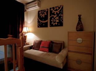 宝宝房,亲子摇篮。木漆拼画。简单的五斗柜。,172平,32万,混搭,大户型,