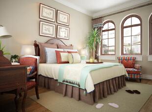 ,450平,50万,美式,别墅,卧室,白色,