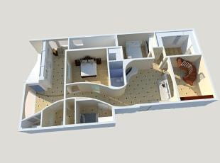 在处理地下一层的别墅空间设计时,设计师将地下一层设计为波浪式的走廊,减小了原本走廊的面积,扩大了其他空间,同时也使得地下一层更富有戏剧性和娱乐性。加上地下一层的整体色调、装饰的改变,更为这套别墅装修设计案例带来一份欢乐和温馨。,400平,80万,混搭,别墅,