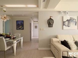 ,135平,18万,新古典,三居,客厅,白色,