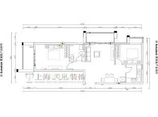 升龙城88平方两室两厅装修效果图---客厅现代简约风格装修效果图,88平,56万,现代,两居,