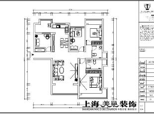 瀚宇天悦142平四室两厅美式乡村风格装修效果图-平面设计方案,142平,5万,美式,四居,