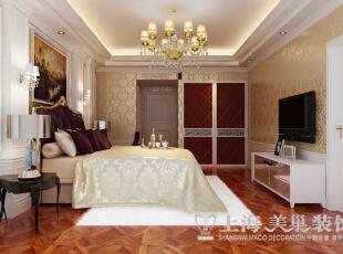 皇家花园500平别墅简欧风格装修样板间——卧室装修效果图,500平,15万,现代,别墅,卧室,黄白,