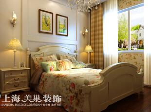 皇家花园500平别墅简欧风格装修效果图——卧室2装修效果图,500平,15万,现代,别墅,卧室,黄白,