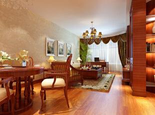 ,135平,19万,美式,三居,客厅,原木色,黄白,