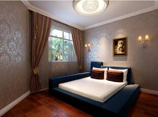 ,135平,19万,美式,三居,卧室,暖色,