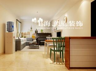 正商恒钻80平两室两厅简欧风格装修效果图-客餐厅效果图,80平,3万,欧式,两居,客厅,餐厅,黄白,