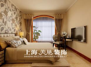 正商恒钻80平两室两厅简欧风格装修效果图-卧室效果图,80平,3万,欧式,两居,卧室,黄白,