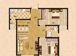 橄榄城伍号院90平两室两厅现代简约装修效果图-平面设计方案,90平,4万,现代,两居,简约,
