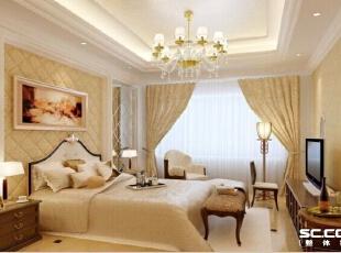 ,95平,10万,现代,两居,卧室,黄色,白色,