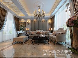 清水苑260平复式简欧风格装修效果图——客厅装修效果图,260平,10万,现代,复式,客厅,黄白,