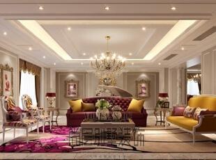 整体的室内空间整体色主要以咖啡色和生成色为主,杂糅的色调穿插到每个角落,每个空间不同色度的渐变,使整个空间充满惊喜。,700平,400万,新古典,别墅,