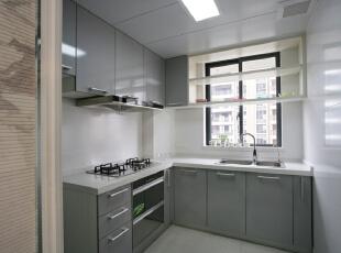 ,220平,28万,现代,四居,厨房,银灰色,白色,