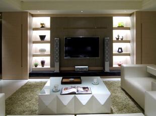 ,150平,19万,现代,三居,客厅,黑白,