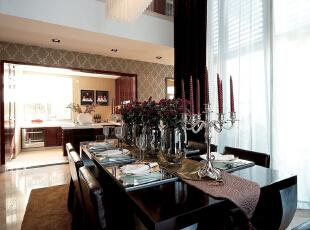 ,200平,24万,现代,四居,餐厅,褐色,白色,